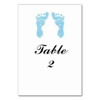 """Baby Boy Footprints"" Tablecard Card"