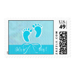 Baby Boy Foots Shower Postage