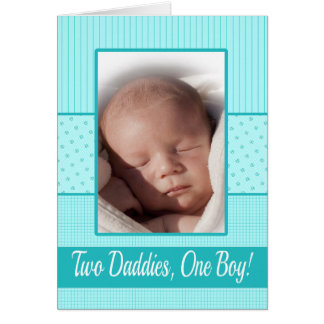 Baby Boy Gay Dads Birth Announcement