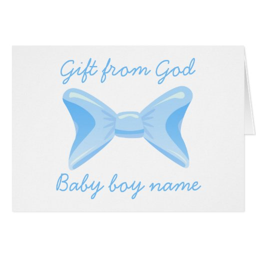 Baby Gift God Bible Verse : Baby boy gift from god blue bow bible verse card zazzle