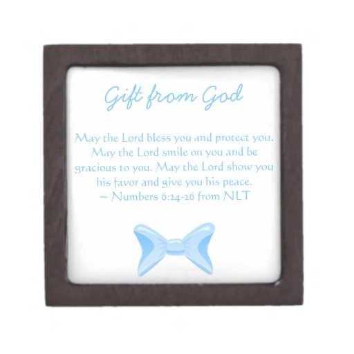 Baby Gift God Bible Verse : Baby boy gift from god blue bow with bible verse premium