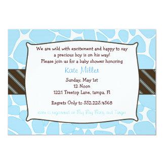 Baby Boy Giraffe shower invitation