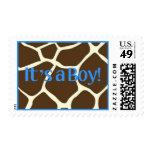 Baby Boy Giraffe Stamp