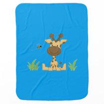 Baby Boy Giraffe Stroller Blanket