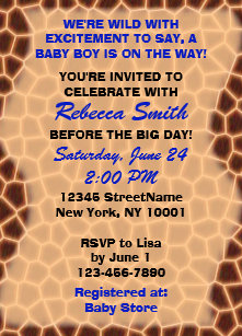 Jungle Wild Baby Boy Shower Invitations Zazzle