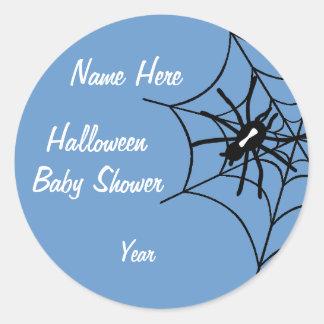 Baby Boy Halloween Baby Shower Spider Stickers