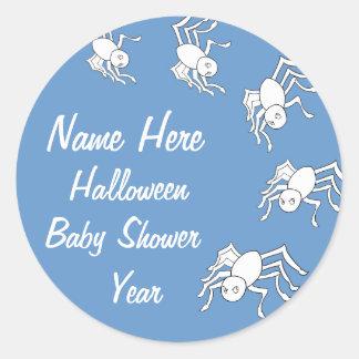 Baby Boy Halloween Spider Baby Shower Stickers