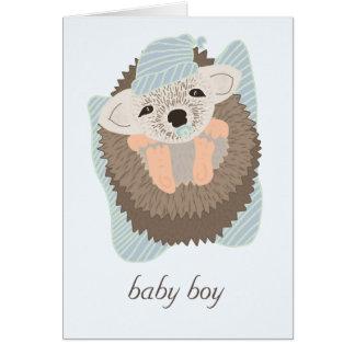 Baby Boy Hedgehog Card