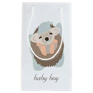 Baby Boy Hedgehog Small Gift Bag