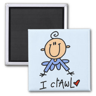 Baby Boy I Crawl Tshirts and Gifts 2 Inch Square Magnet
