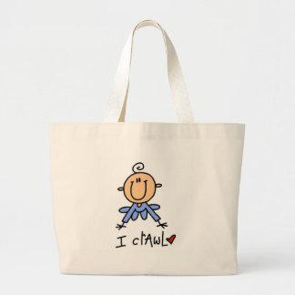 Baby Boy I Crawl Tshirts and Gifts Canvas Bag