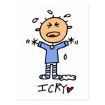 Baby Boy I Cry Tshirts and Gifts Postcards