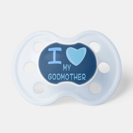baby boy i love heart my godmother pacifiers