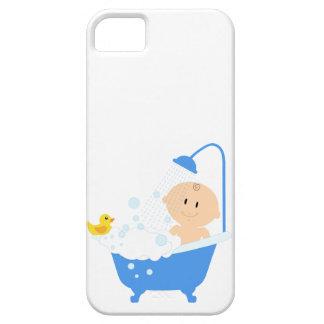 Baby Boy in Bath Tub - Baby Shower Print iPhone SE/5/5s Case