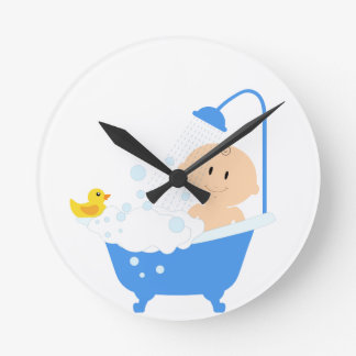 bathtub wall clocks zazzle. Black Bedroom Furniture Sets. Home Design Ideas
