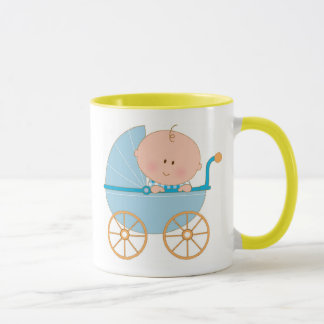 Baby Boy in Carriage Mug