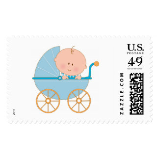 Baby Boy in Carriage Stamps