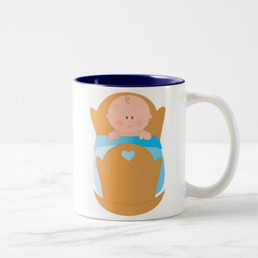 Baby Boy in Cradle Coffee Mugs