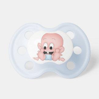 Baby Boy in Diaper Baby Pacifier
