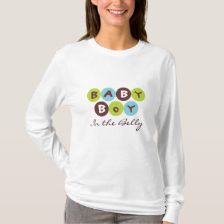 """Baby Boy, """"In the Belly"""" Funky Dot Tshirt"""