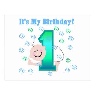 Baby Boy It's My 1st Birthday Post Card