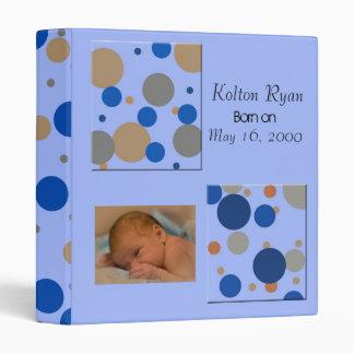 Baby boy keepsake/photo album binder