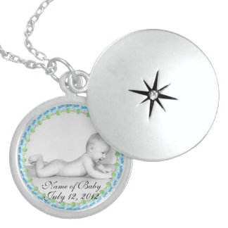 Baby Boy Keepsake Sterling Silver Locket Necklace