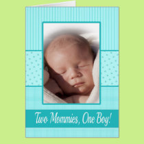 Baby Boy Lesbian Moms Birth Announcement