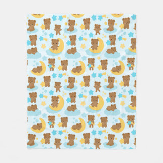 Baby Boy Little Bear Nursery Fleece Blanket