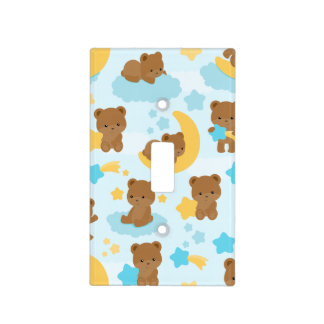 Baby Boy Little Bear Nursery Light Switch Cover