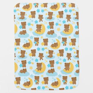 Baby Boy Little Bear Nursery Swaddle Blanket