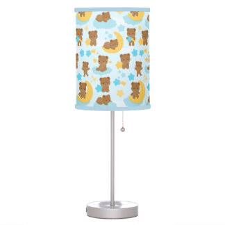 Baby Boy Little Bear Nursery Table Lamp