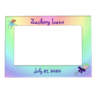 Baby Boy Magnetic Frame- personalize Magnetic Picture Frame