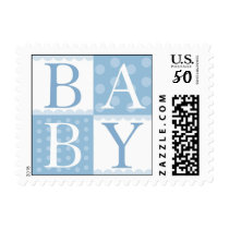 Baby Boy Mod Polka Dots Postage Stamps