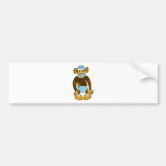 Baby Boy Monkey Diaper Bumper Sticker