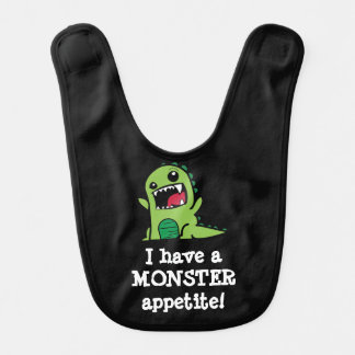 Baby Boy Monster Bib I Have A Monster Appetite