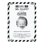 Baby Boy Mustache 1st Birthday Party Photo Invite