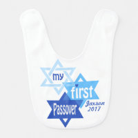 Baby Boy My First Passover Bib Blue
