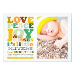 Baby Boy Name First Christmas Birth Announcement Announcement