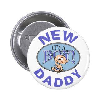 Baby Boy New Daddy 2 Inch Round Button