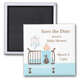 Baby Boy Nursery 2 Inch Square Magnet