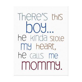 Baby Boy Nursery Canvas Quote - Boys Nursery Art