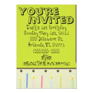 baby boy or girl birthday card invitaion
