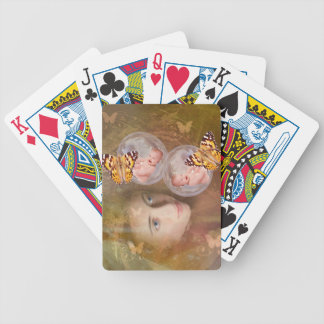 Baby boy or girl twins bicycle playing cards