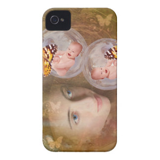 Baby boy or girl twins iPhone 4 case