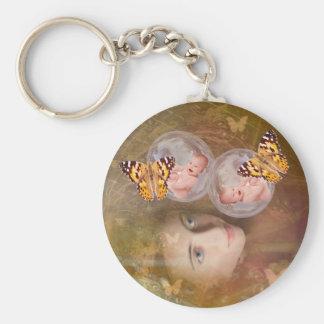 Baby boy or girl twins keychain