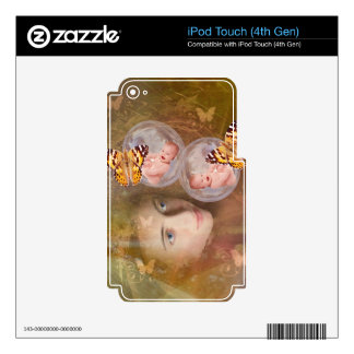 Baby boy or girl twins iPod touch 4G decal