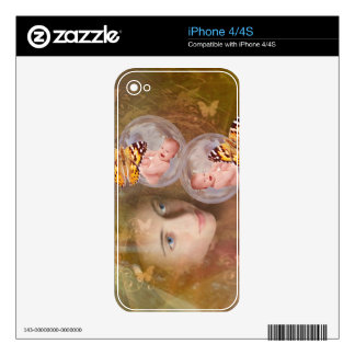 Baby boy or girl twins skin for iPhone 4