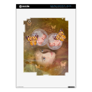 Baby boy or girl twins iPad 3 skin