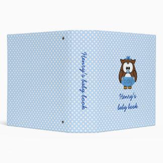 baby boy owl 3 ring binder